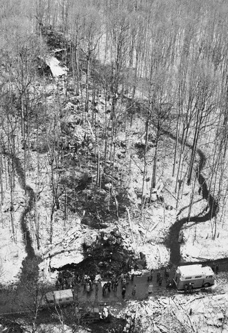 Daylight View of TWA Flight 514 Crash